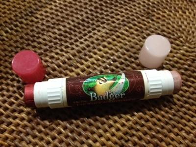 クレンジング不要 皮剥けしない優しい口紅 Badger Company Lip Tint & Shimmer