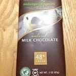カカオ48%ミルクチョコ Endangered Species Chocolate 甜菜糖でグルテンフリー
