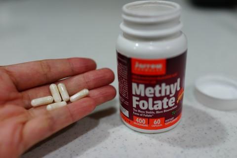 【葉酸塩】葉酸の効果と副作用 Jarrow Formulas Methyl Folate(天然葉酸塩)