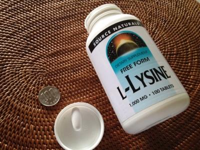 【L-リジン】ヘルペス予防 薄毛にもカルシウム強化にも Source Naturals L-Lysine