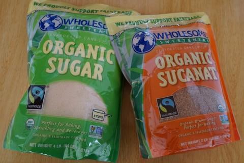 Wholesome Sweetenersのキビ砂糖スカナット比較