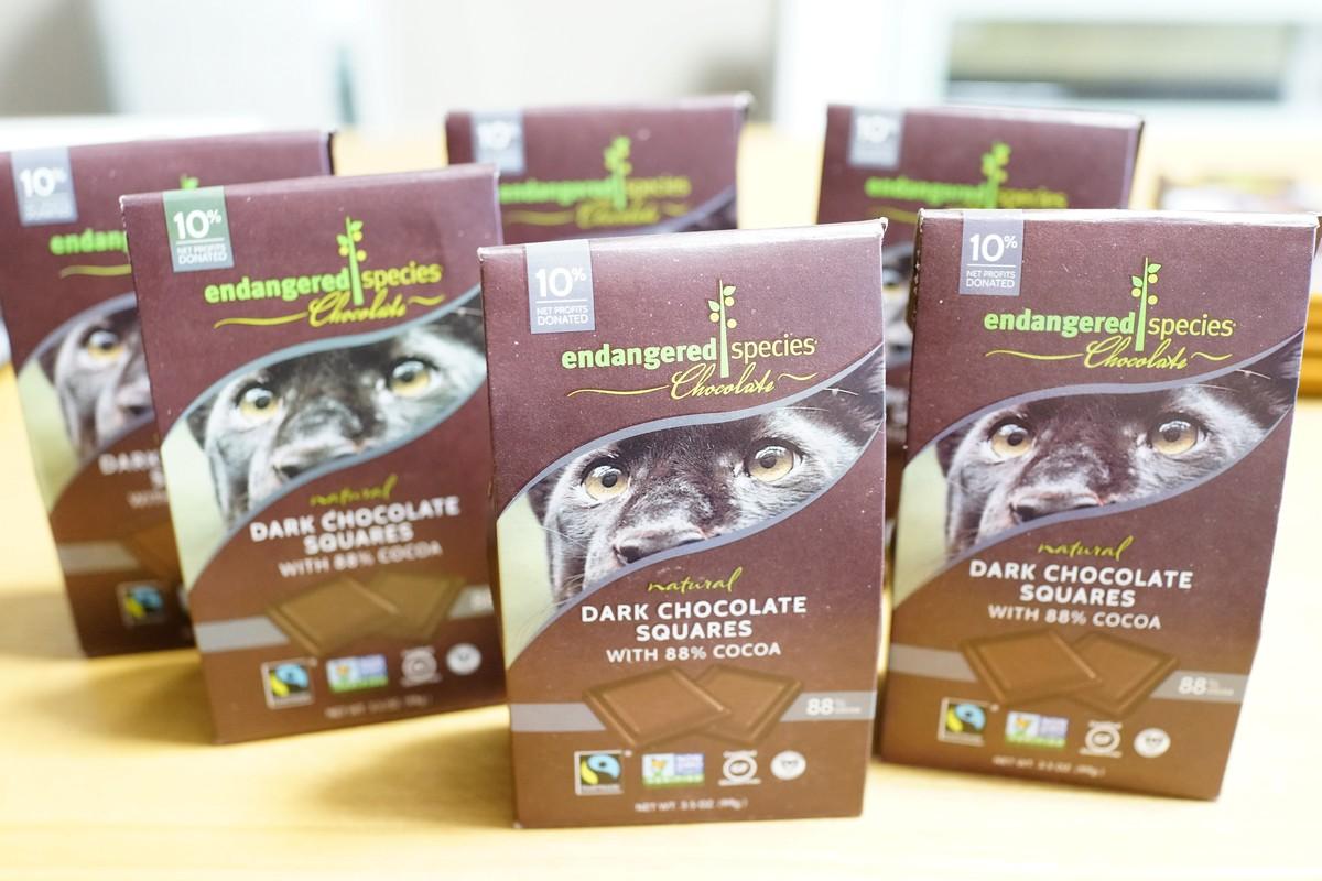 アイハーブ Endangered ミルクチョコ好きでも食べられるダークチョコ カカオ88%レビュー