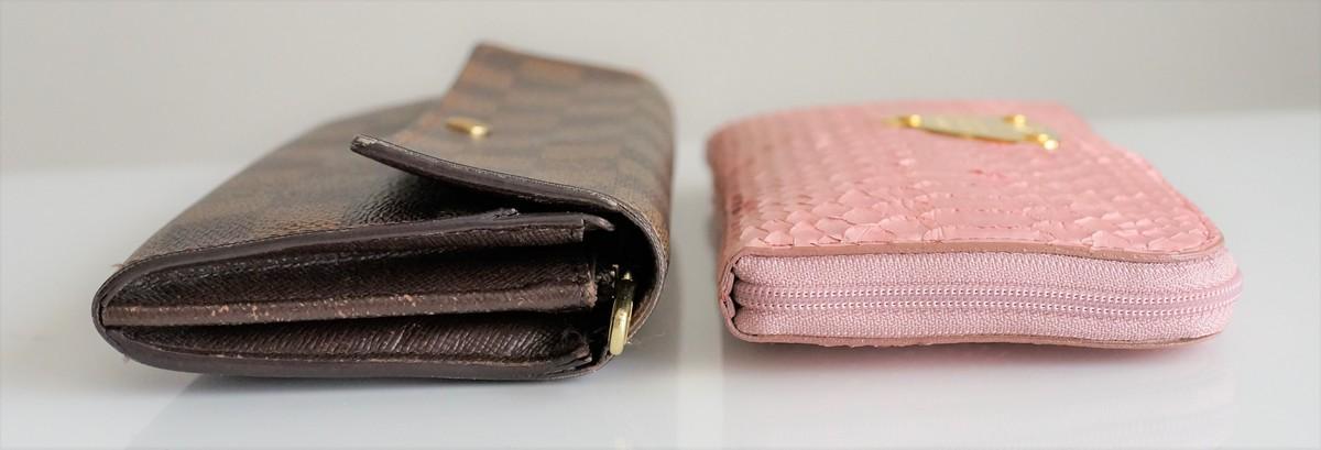 主婦にもATAOの薄くて軽くてコンパクトなL字長財布がおすすめな3つの理由 たくさん入れても薄さは変わらないという参考画像